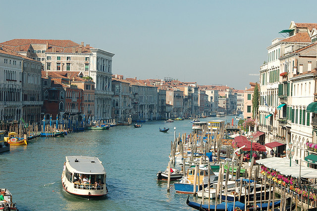 5 Top Tourist Attractions In Venice - A typical view of the Grand Canal in Venice