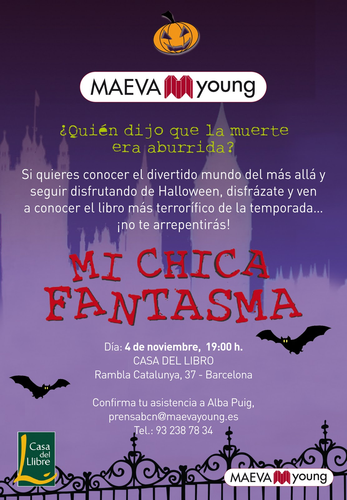Fiesta mi chica fantasma en barcelona el cofre de nebe - Casa del libro barcelona rambla catalunya ...