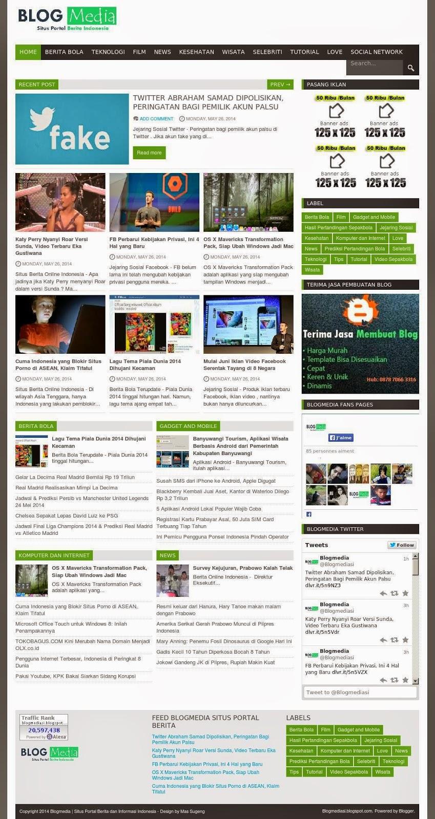 Contoh Blog Portal Berita