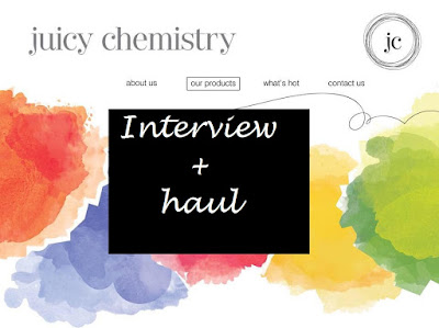 Introducing: Juicy Chemistry- Interview + mini haul image