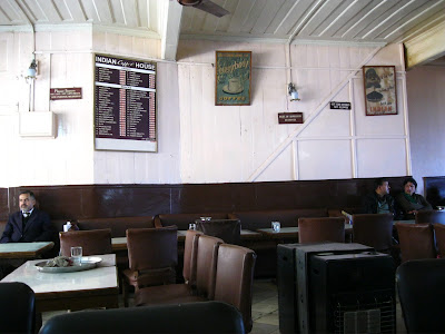 tables at Indian Coffee House, Shimla