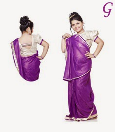 Cute Girls Saree Pictures-Baby Saree Photos