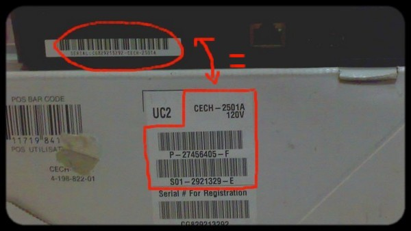 how to find ps3 serial number