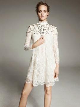 H&M Conscious Exclusive primavera verano 2014 vestido blanco encaje