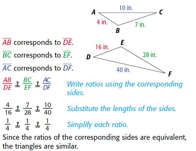 Gallimore Math Course 2: Similar Figures and Proportions