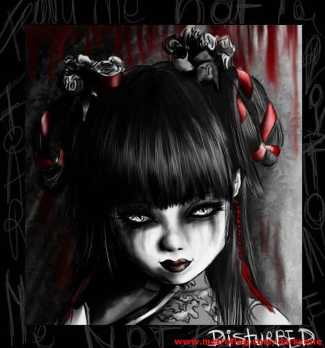 foto dibujo chica gothic and dark: