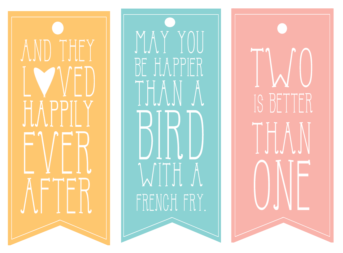 Wedding Gift Tags - Printable Template Wherever Life Takes Us