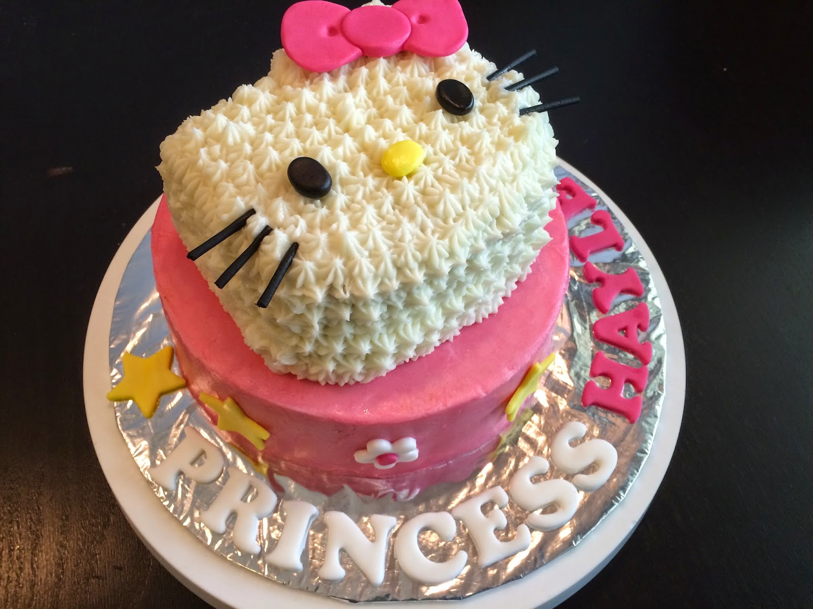 Hello Kitty Face cake Crissas Cake Corner