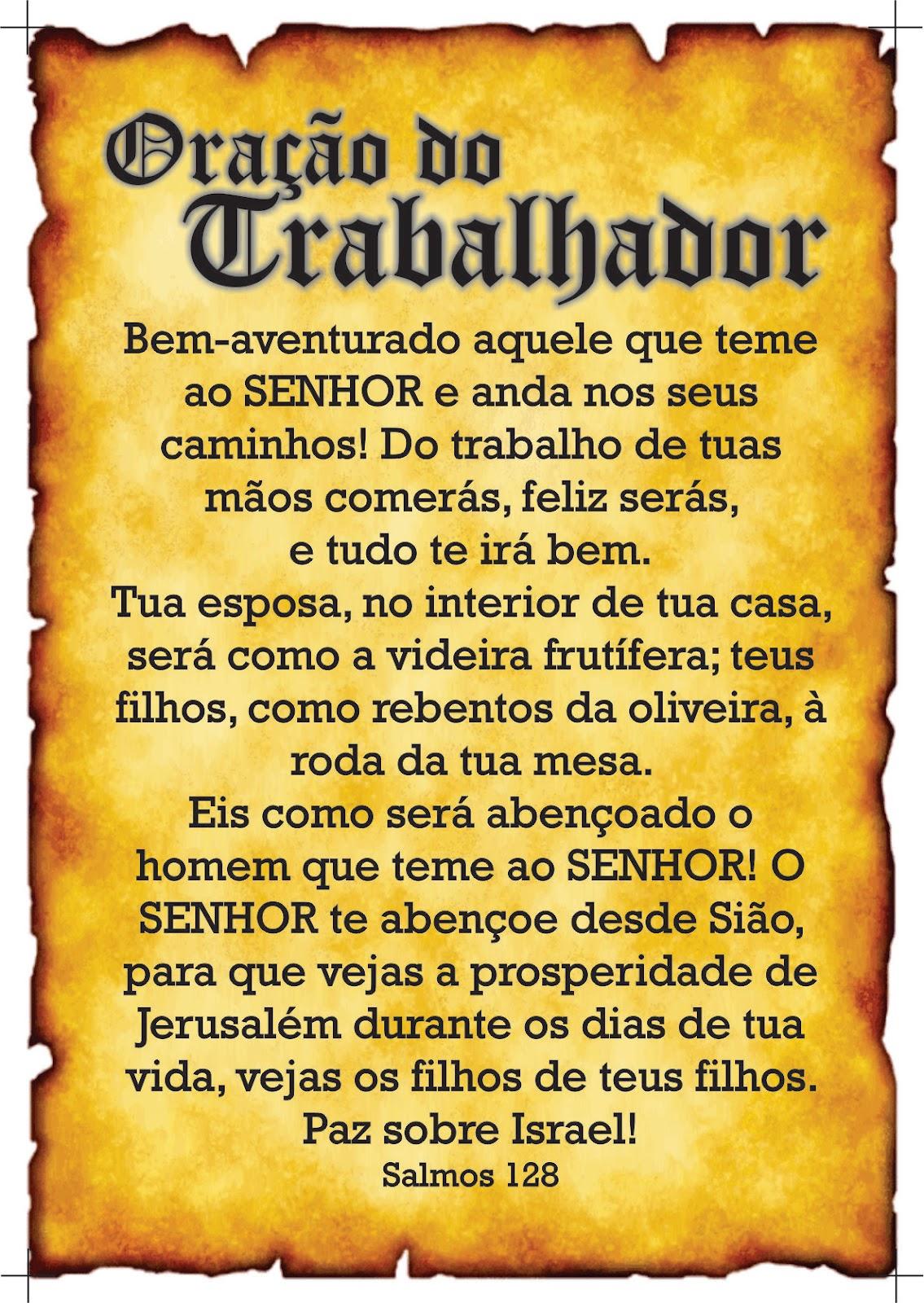 Super TRABALHO UNIVERSAL: ORAÇÃO DO TRABALHADOR KT64