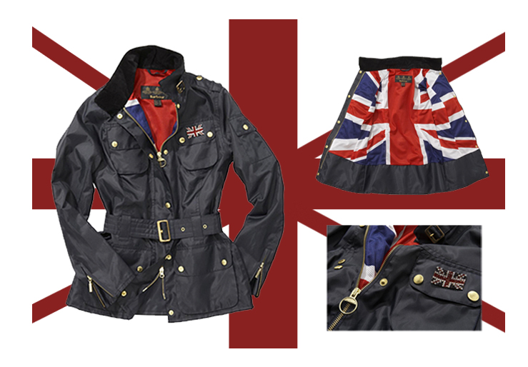 Jubilee, Barbour Union Jack, Ladies International Swarovski Jacket, 2012, British flag