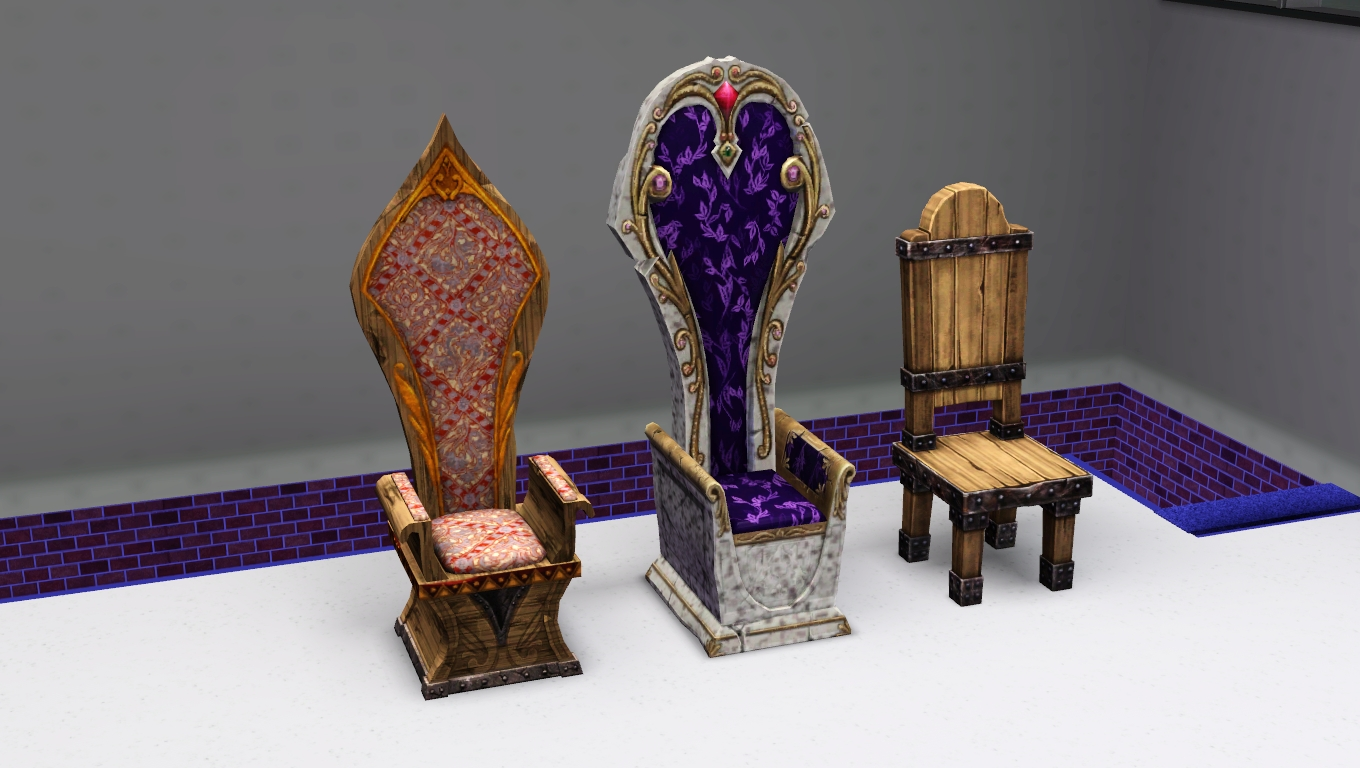 My sims 3 blog sims medieval living and dining chairs by for 3 star living room chair sims
