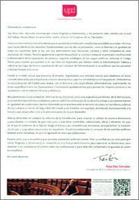 carta de propaganda electoral enviada por el UPD y escrita por Rosa Díez González