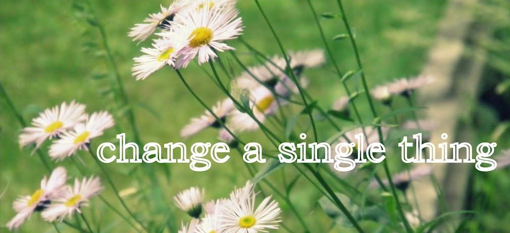 change a single thing