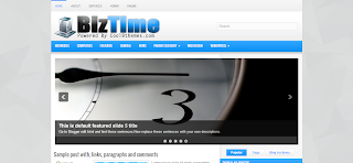 BizTime Blogger Template Is a Wordpress to Blogger Converted Clean And Quality Blogger Template