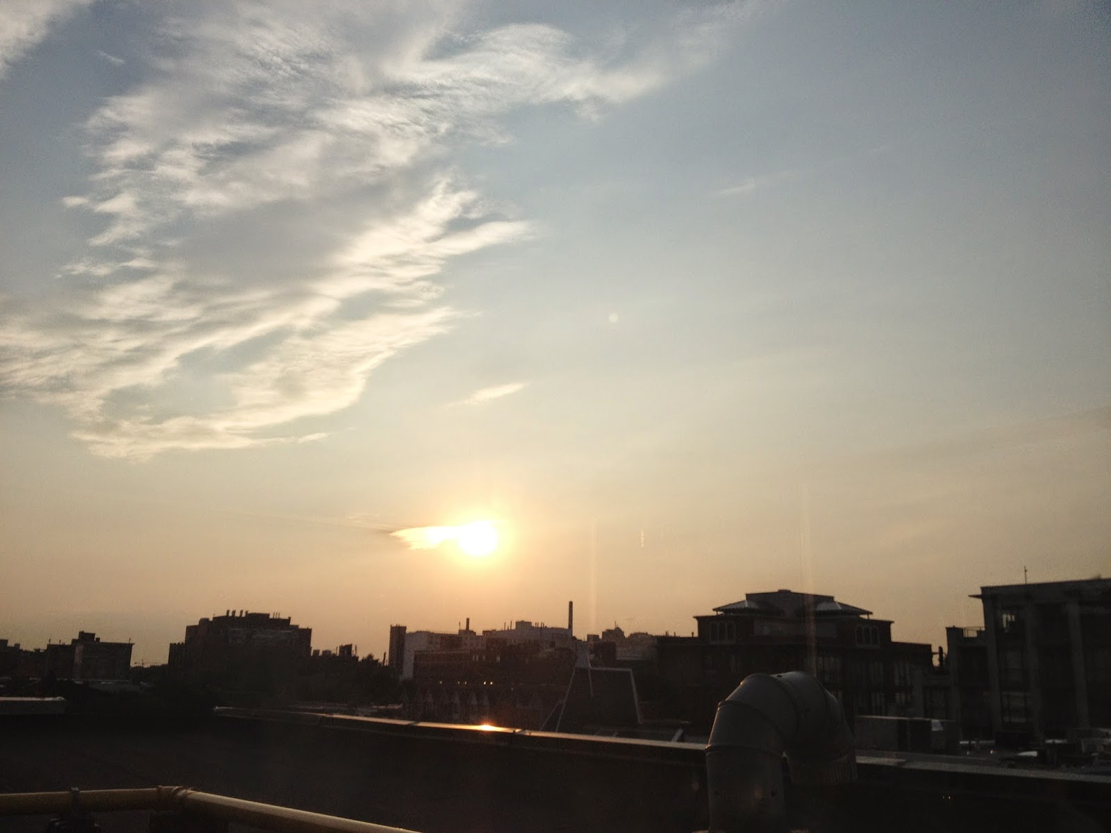 Sunset from the rooftop patio at The Beverly Hotel Toronto