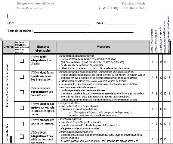 Pour une cole libre au qu bec 23 mars 2014 - Grille d evaluation immigration quebec ...