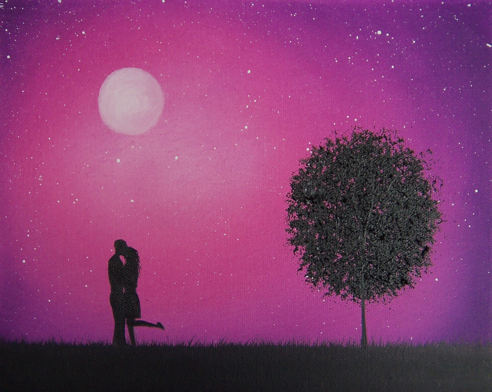 31   Best Couple Silhouette for Silhouette Paintings Of Couples  45gtk