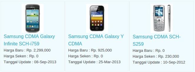 Daftar Harga Hp Samsung CDMA Januari 2016