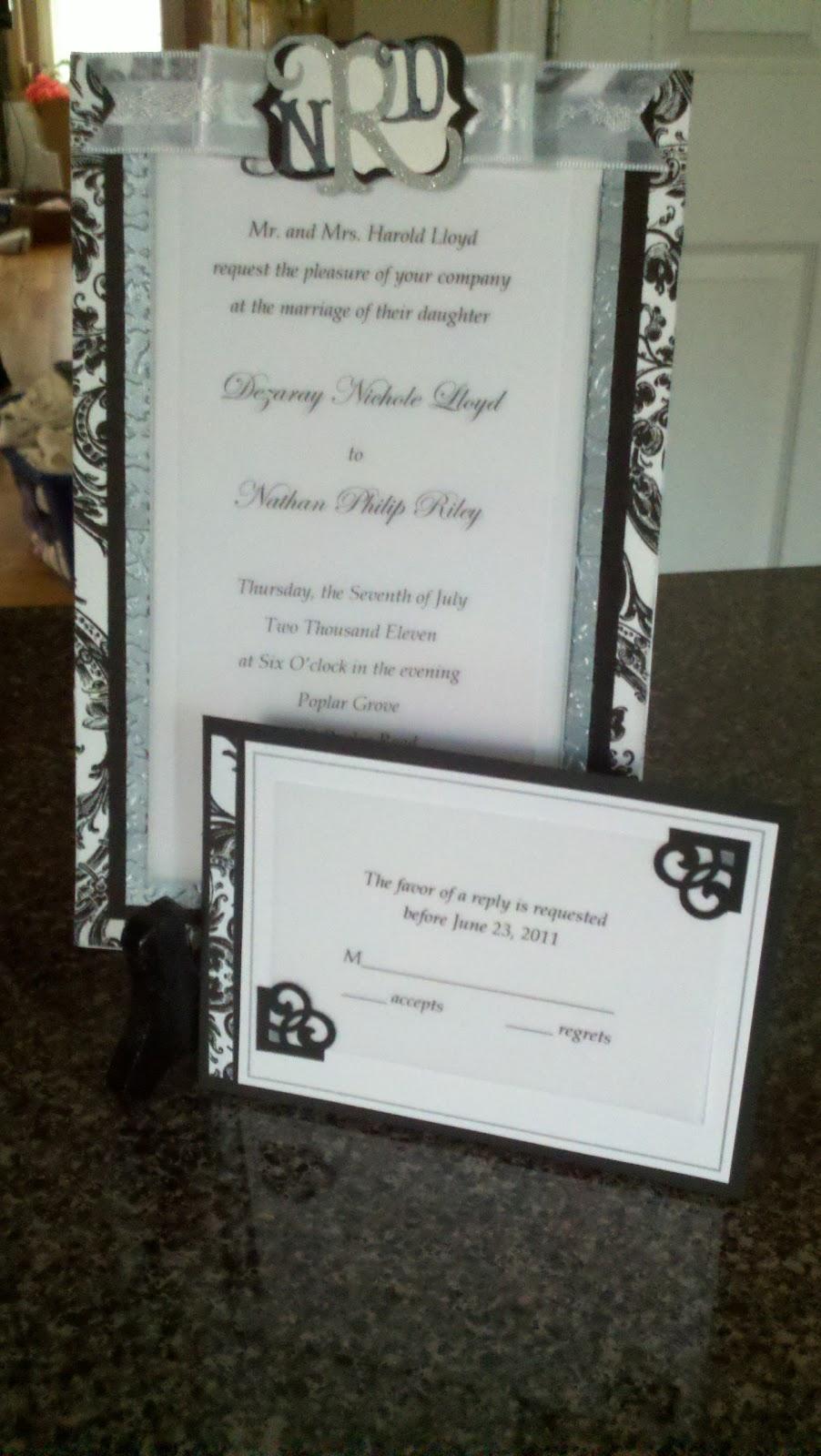 Merilee Lane...Where Life is but a Dream: Wedding Invitations