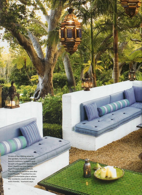 Ethnic inspired outdoor space. Photo by Roger Davies