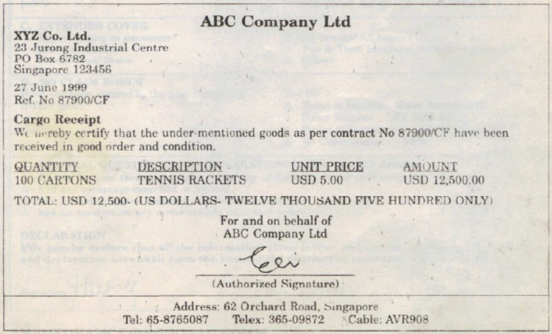 Doc16001131 Goods Receipt Form goods receipt form 95 More – Receipt of Goods Template