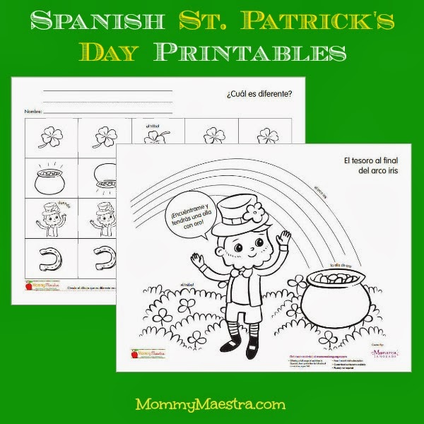 Free Spanish St. Patrick's Day Printables