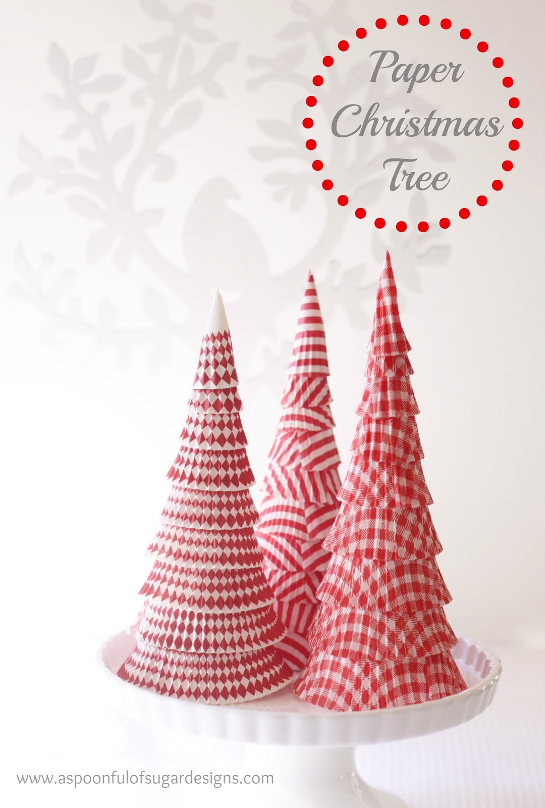 Paper christmas tree a spoonful of sugar