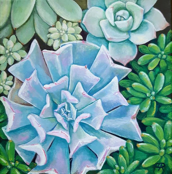 Succulents #1 (Casein) -sold