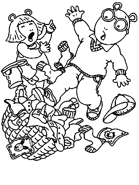 contemporary arthur and dw coloring pages image collection example