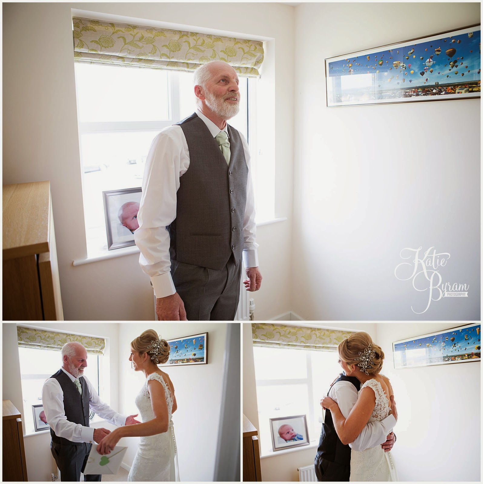 bride hugging her dad, wedding day day, father of the bride, katie byram photography