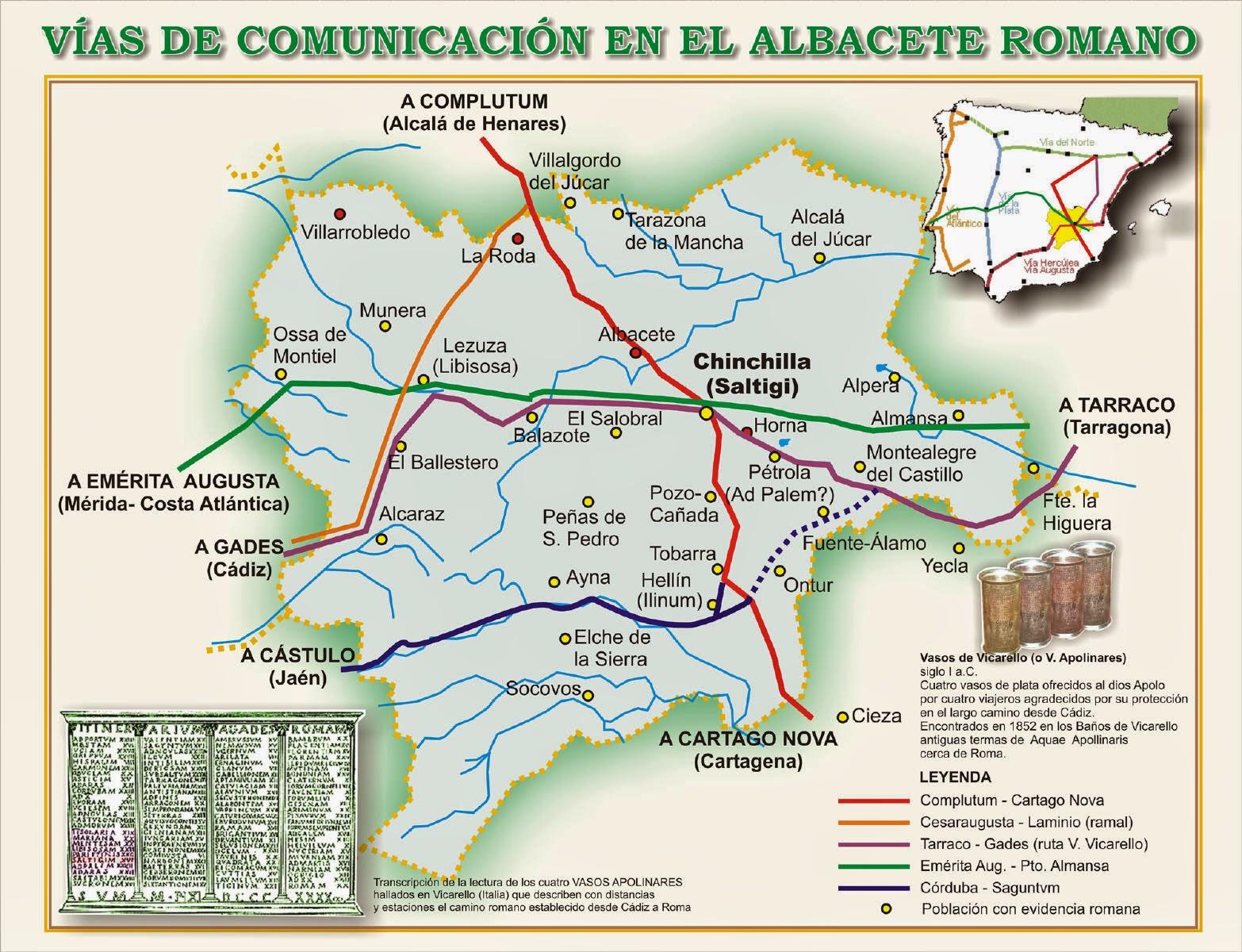 Descubriendo las v as romanas en albacete complutum - Plano de almansa ...