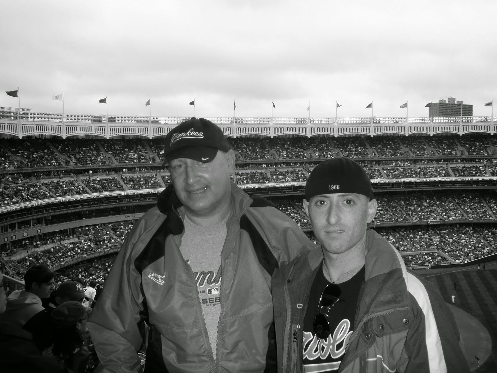 Benjamin Rubenstein visiting Yankee Stadium in September 2009