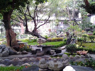 A small garden in the Foguangshan Monastery Kaohsiung