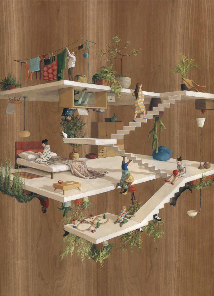 20-Terrazas-Cinta Vidal Agulló-Multi-directional-Surreal-Architecture-Drawings-and-Paintings-www-designstack-co