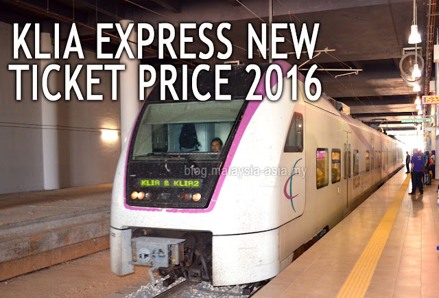 New Ticket Price for KLIA Express ERL Train