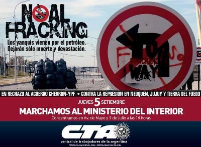 La Central y la Multisectorial marchan este jueves al Ministerio del Interior: ¡Fuera Chevrón de la Argentina!