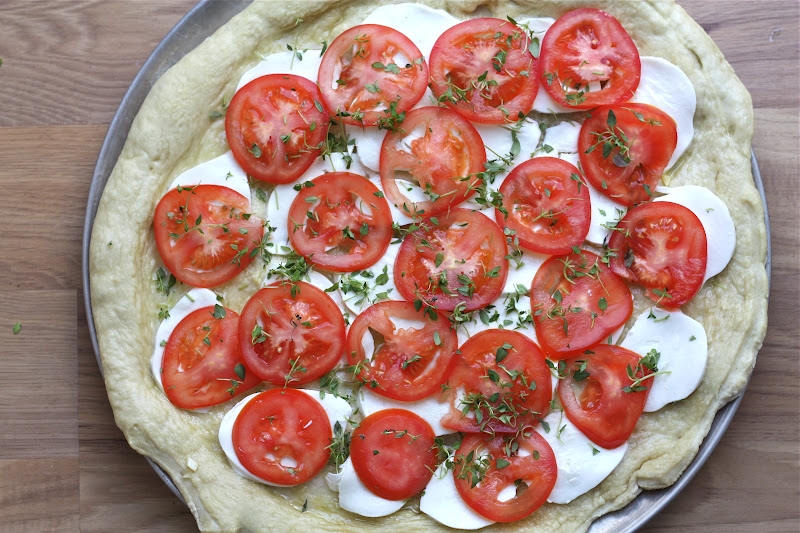 Eats and beats janna ina 39 s margherita pizza Ina garten capellini with tomatoes and basil