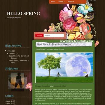 Hello Spring Blogger Template. Hello Spring template blogspot free