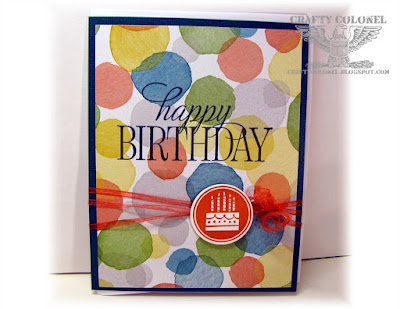 Crafty Colonel Donna Nuce, Stampin Up DP and stamps, Birthday Card