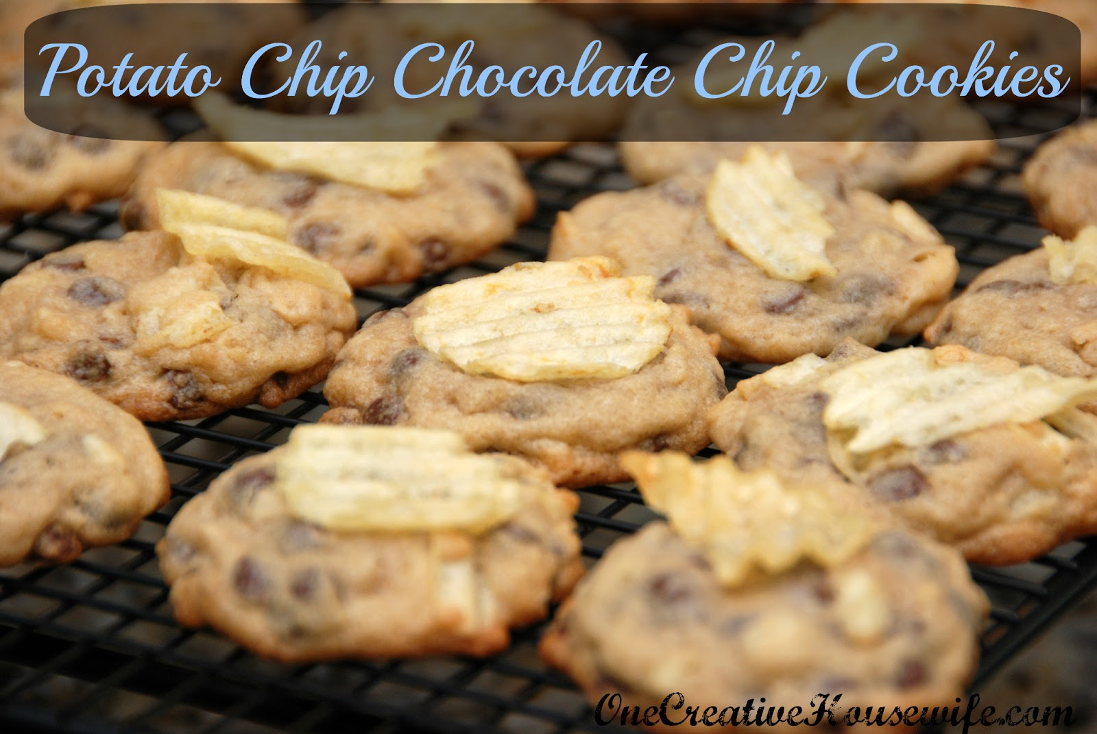 One Creative Housewife: Potato Chip Chocolate Chip Cookies