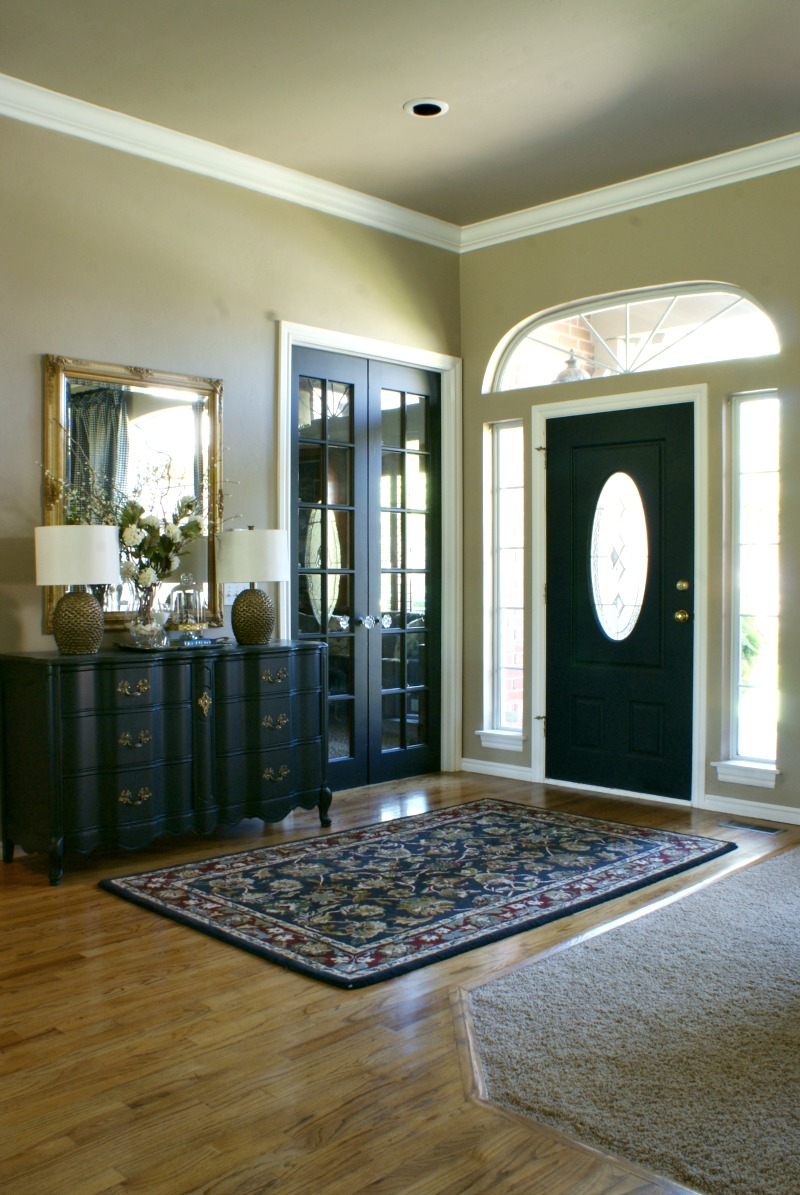 Black interior doors dimples and tangles for Dark interior paint colors