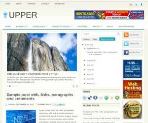 Upper Blogger Template