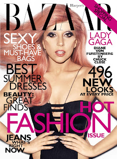 Lady GaGa covers Harpers Bazaar May 2011 issue