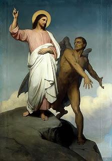 Satanás, Satanás tentando a Cristo, cuadro de Ary Scheffer