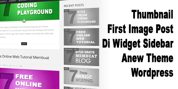 Thumbnail First Image Post Di Widget Sidebar Anew Theme