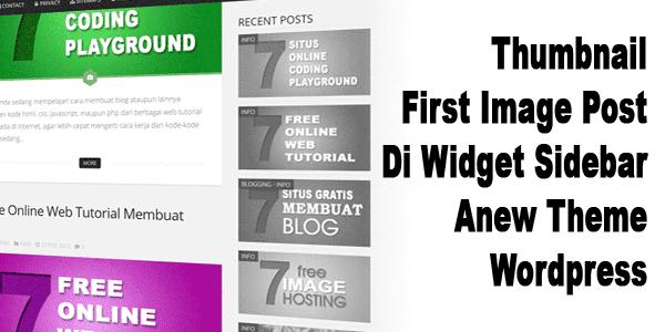 Thumbnail First Image Post Di Widget Sidebar Anew Theme Wordpress