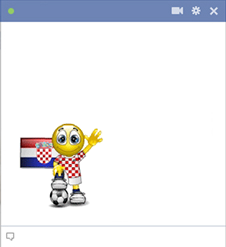 Croatian football smiley