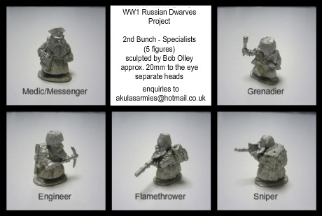 2nd Bunch - Russian Dwarf Specialists (5 Figures)