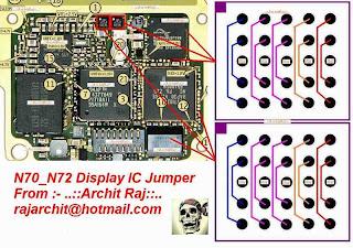 nokia n70 display problem