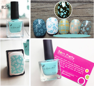 Born Pretty Stamping Polish ya qin an 18 ml  blue turquoise #25
